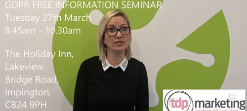 GDPR Presentation invitation video