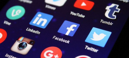 Social apps on a phone